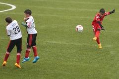 Футбол или футбол освобождают пинок стоковое изображение