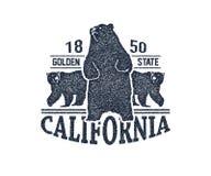 Футболка Калифорнии с гризли Стоковое Изображение RF