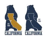 Футболка Калифорнии с гризли Стоковое Изображение