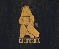 Футболка Калифорнии с гризли Стоковые Изображения RF