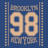 Футболка Нью-Йорка иллюстрация штока