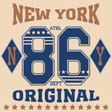 Футболка спорта Нью-Йорка иллюстрация штока
