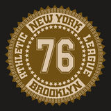 Футболка спорта Нью-Йорка иллюстрация вектора