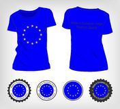 Футболка с флагом Европейского союза Стоковое Изображение RF