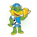 футбол крокодила аллигатора Стоковая Фотография