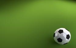 Футбол на зеленой предпосылке Стоковые Изображения