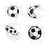 Футбол на цели Стоковые Фотографии RF