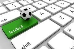 Футбол онлайн Стоковое Изображение