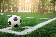 футбол поля шарика Стоковые Изображения RF