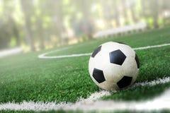 футбол поля шарика Стоковое Изображение RF