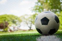 футбол поля шарика Стоковая Фотография RF
