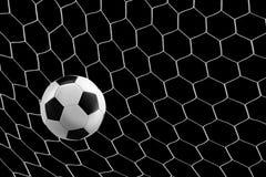 футбол сети цели шарика Стоковые Изображения RF