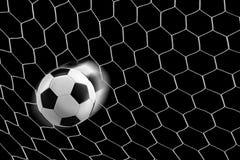 футбол сети цели шарика Стоковое фото RF