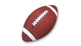 Футбол, спортивный инвентарь изолированный на белизне Стоковые Фото