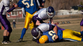 Футбол средней школы Стоковые Фото