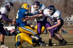 Футбол средней школы Стоковая Фотография