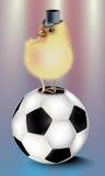 Футбол с абстрактной предпосылкой бесплатная иллюстрация