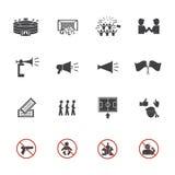 Футбол, установленные значки клуба болельщиков футбола Стоковые Фото
