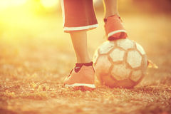 Футбол улицы Стоковые Изображения RF