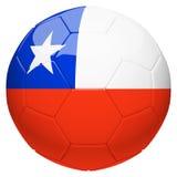 Футбол футбола с переводом флага 3d Чили иллюстрация вектора