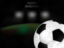 Футбол, футбол, иллюстрация предпосылки ретро с шариком Стоковая Фотография