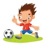 Футбол шаржа Стоковое Изображение