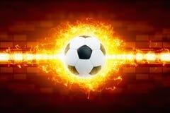 футбол шарика горящий стоковое изображение