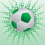 футбол шарика зеленый Стоковое Изображение RF