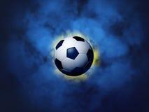 футбол шарика предпосылки волнистый Стоковые Фото