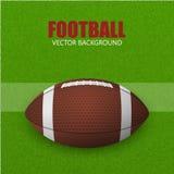 Футбол, шарик на поле Предпосылка вектора Стоковые Фотографии RF