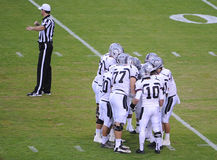 Футбольная игра средней школы Стоковое фото RF