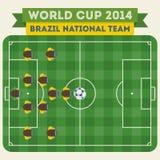 Футбольная команда 2014 Бразилии национальная Стоковое фото RF