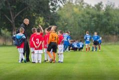 Футбольная команда детей Стоковое Изображение