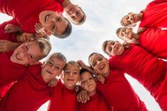 Футбольная команда детей Стоковая Фотография RF