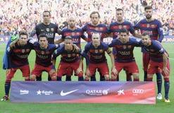 Футбольная команда FC Барселона Стоковые Изображения