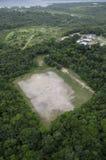 Футбольное поле в середине дождевого леса. Стоковое Фото