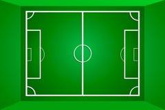 Футбольное поле или футбольное поле вектора зеленые Стоковое Изображение RF