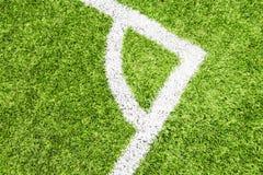 Футбольное поле с искусственной дерновиной Стоковая Фотография