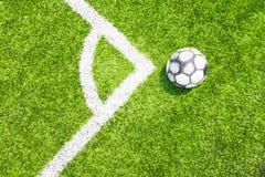 Футбольное поле с искусственной дерновиной Стоковое Изображение RF