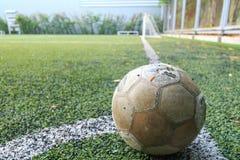 Футбольное поле, углы, Стоковое Изображение