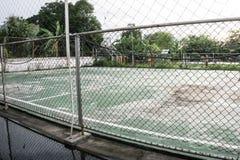 Футбольное поле улицы стоковое изображение rf