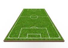 Футбольное поле Стоковая Фотография RF