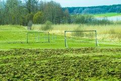Футбольное поле Стоковая Фотография