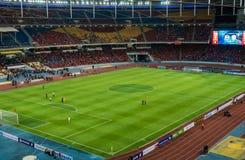 Футбольные болельщики Ливерпуля во время LFC путешествуют 2015 в Куалае-Лумпур, Малайзии Стоковые Фото