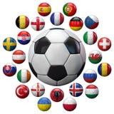 Футбольные команды 2016 Франции евро Стоковая Фотография