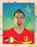 Футбольный болельщик Бельгии Стоковые Фото