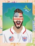 Футбольный болельщик США Стоковая Фотография