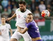 Футбольный матч лиги банка Ferencvaros - Ujpest OTP Стоковые Изображения