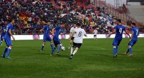Футбольный матч между Италией и Ирландской Республикой Under-21 Стоковое Изображение RF