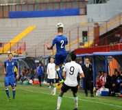 Футбольный матч между Италией и EIRE Under-21 Стоковое Фото